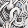 Leda & The Swan (Acrylic on wood 4 1/2