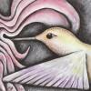 Hummingbird (4 1/2 x 4 1/4 Acrylic on wood)