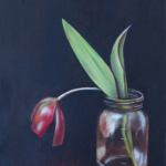 "Tulip 092014 9"" x 11"" Oil on canvas"